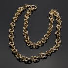 "Bronze 2 in 2 Chainmaille 18"" Gold-Colored Chain"