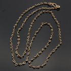 Chain Made of Bronze Gold-Colored Figure 8 Links--36""