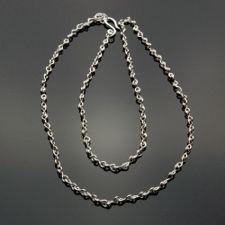 """Chain Made of Sterling Figure 8 Links--24"""""""