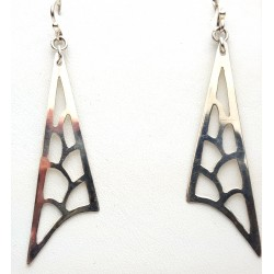 Cutout Sterling Triangle Earrings