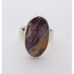 Rhyolite Cabochon in Sterling Ring