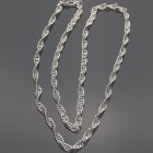 "Spiral Sterling Chainmaille 30"" Chain"