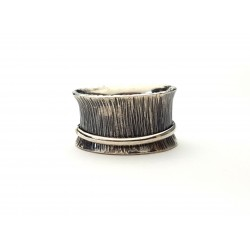 Sterling Hammered Spinner Ring - small